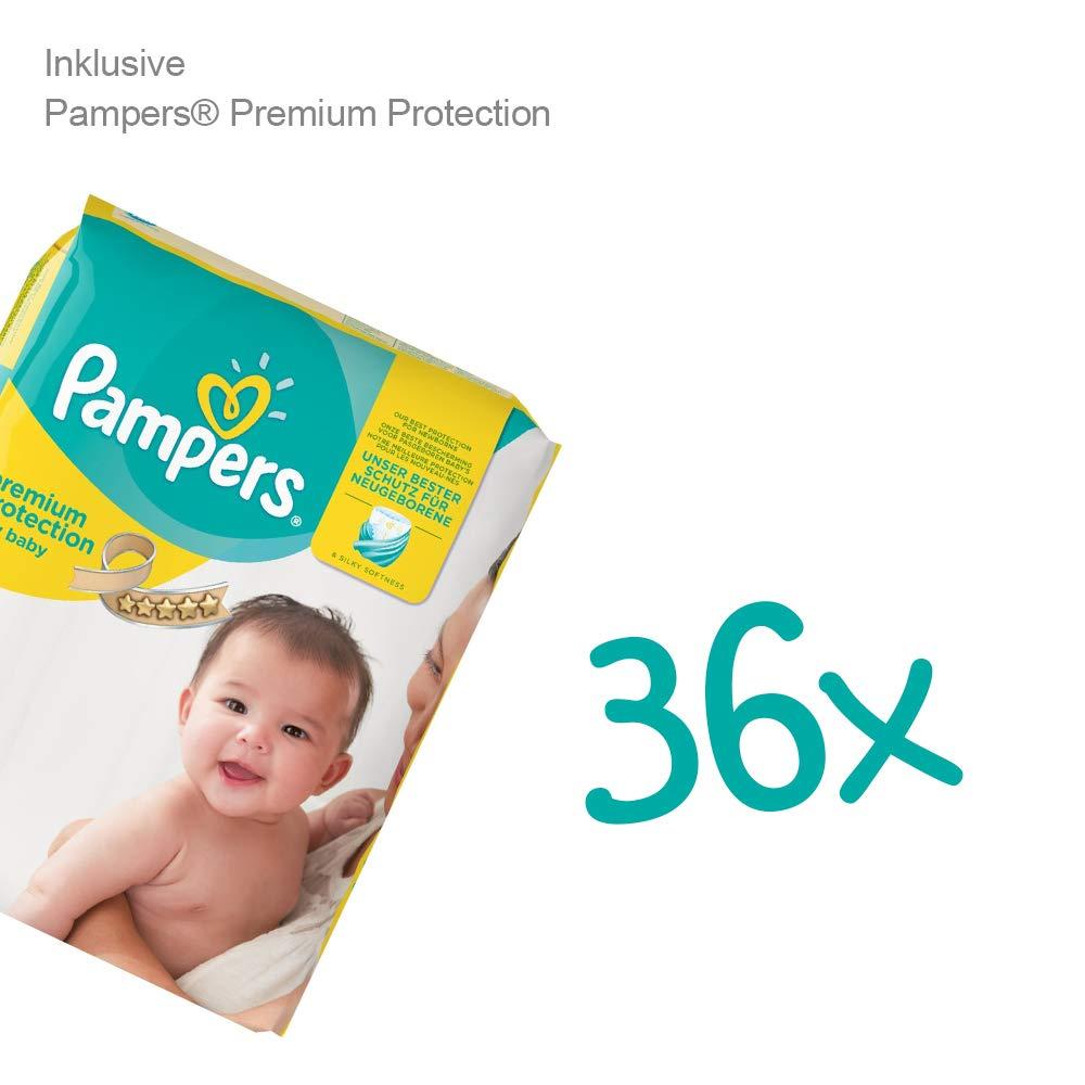 2 Timfanie/® Windeltorte   36 Pampers/®   3-st/öckig   baby-blau   Windeln Gr mit Gravur