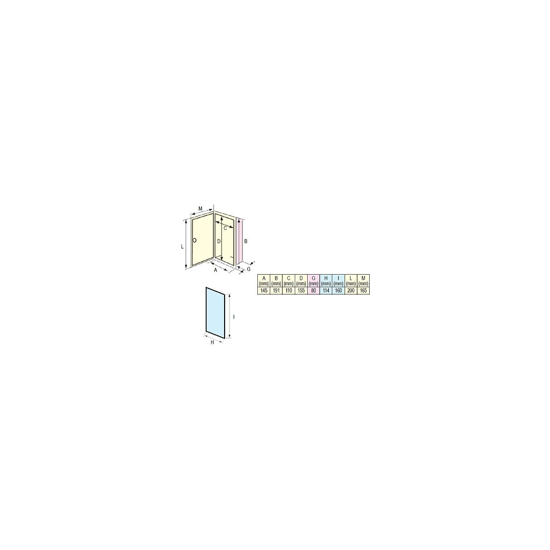 Nuova rade registre pour douche avec couvercle
