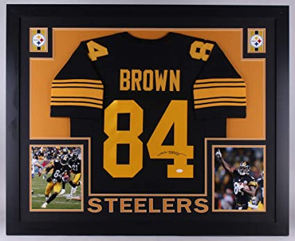 Antonio Brown Autographed Signed Steelers 35X43 Custom Framed Jersey  Memorabilia - JSA Authentic 8c9058f09