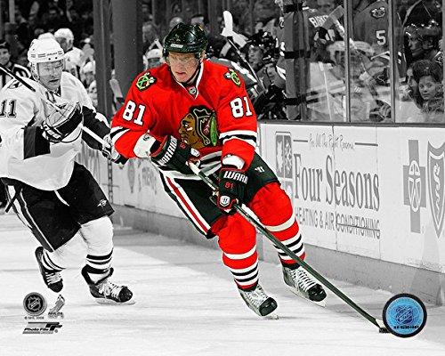 Chicago Photo Blackhawks 8x10 - Marian Hossa Chicago Blackhawks NHL Action Photo (Size: 8