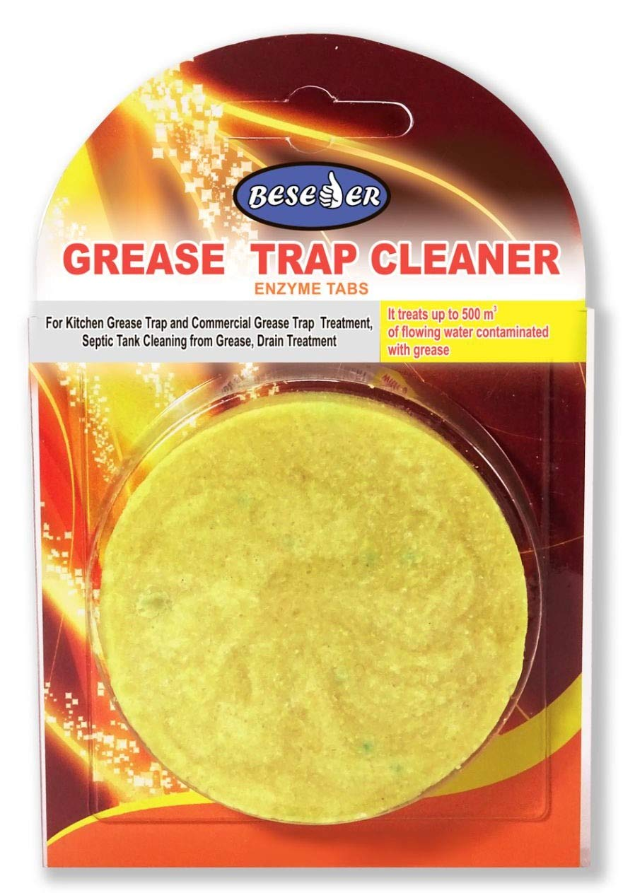 Enzyme tabs Grease Trap Cleaner 1 pcs for Grease Trap Cleaning and Septic Tank Cleaning, Clearing Grease from drains. Breaks Down All Oils and Grease. for Home Kitchen & Commercial Restaurants