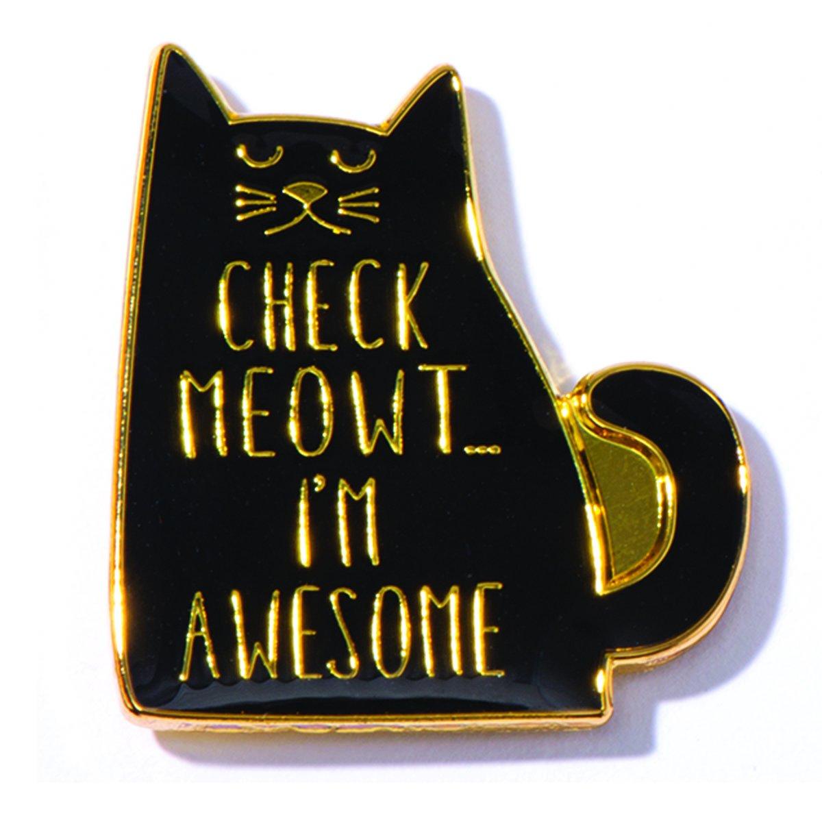 Check Meowt I'm Awesome Appreciation Award Pins, 12 Pins