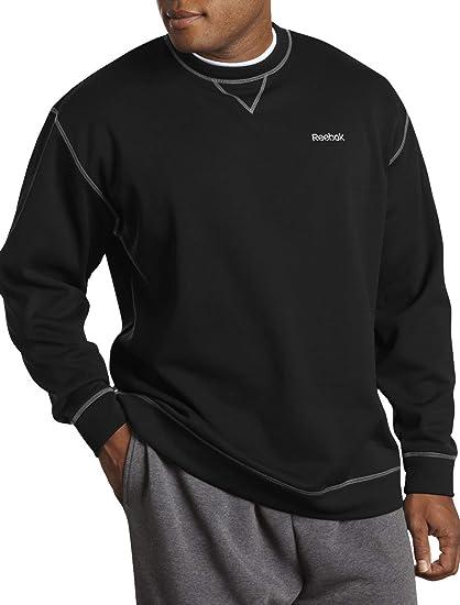 9f97abae3 Amazon.com: Reebok Big and Tall Play Dry Fleece Crewneck: Clothing