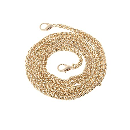 JAGETRADE Replacement Purse Chain Strap Handle Shoulder Crossbody Handbag Bag Metal 120cm Gold