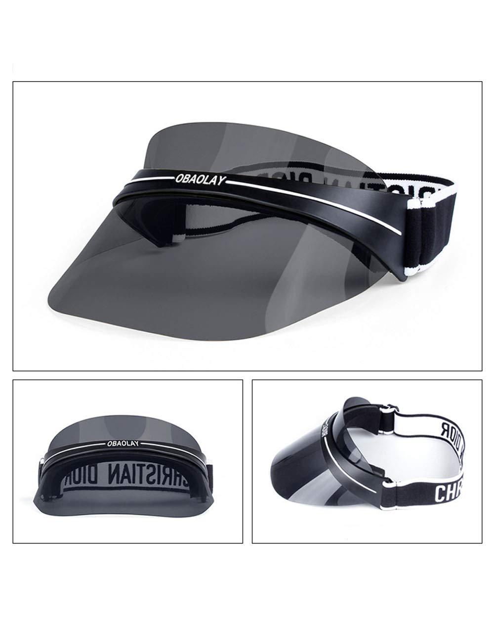 CUKKE Uomo Donna Sport Visiera Parasole Cappello Tesa Larga Raggi UV Protezione Esterna Sportiva Copricapo