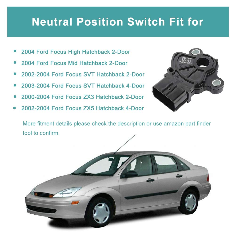 Standard Neutral Safety Switch Fit For Ford Focus 2000-2004 TUPARTS Automotive Replacement Neutral Safety Relays