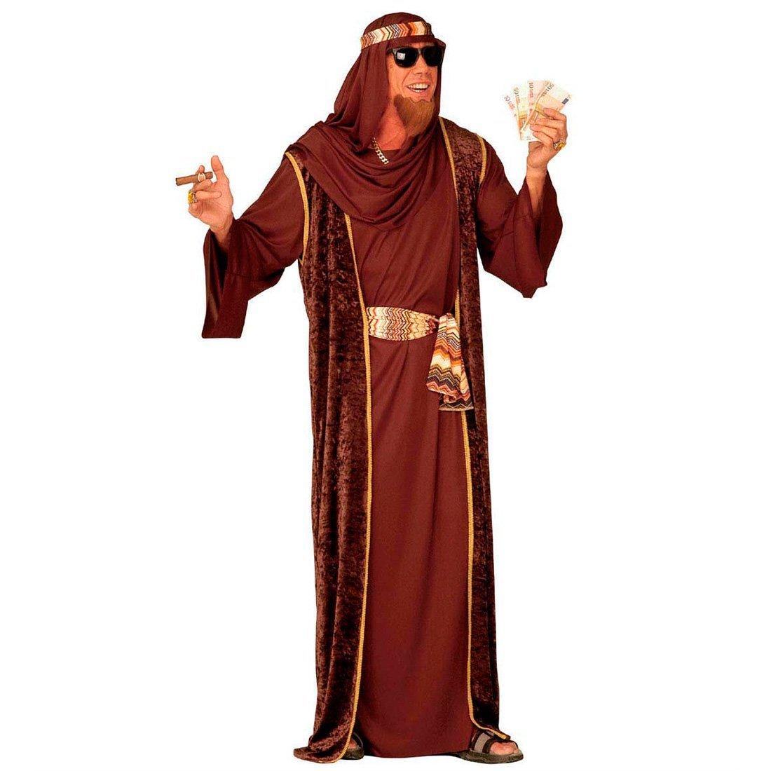 NET TOYS Disfraz de jeque marrón: Amazon.es: Juguetes y juegos