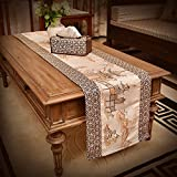 Chinese-style Table Runner,Long Luxury Fabric Tablecloths Real Wood Table Mahogany Furniture Coffee Table Doily,TV Cabinet Flag Flag-C 40x180cm(16x71inch)