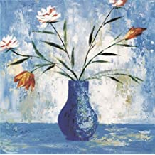 High Quality Polyster Canvas ,the Reproductions Art Decorative Prints On Canvas Of Oil Painting 'Flowers In The Blue Vase', 8x8 Inch / 20x20 Cm Is Best For Basement Gallery Art And Home Decor And Gifts