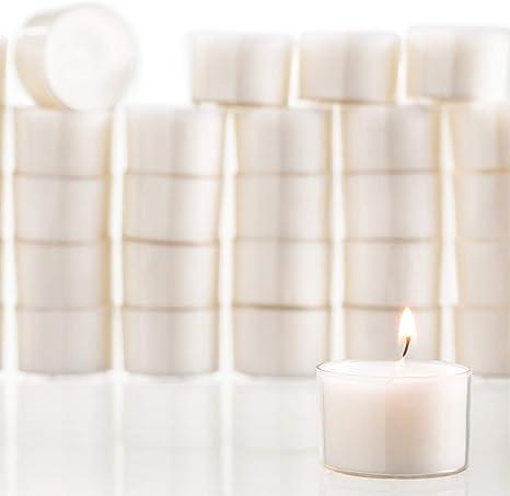 Tea Light Candles 50 Pack 3 hours burn White Unscented handmade//Vela religiosa