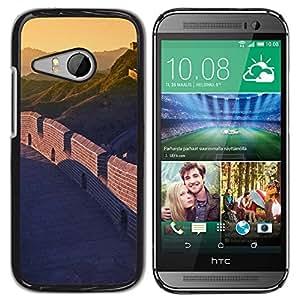 Paccase / SLIM PC / Aliminium Casa Carcasa Funda Case Cover - Nature Beautiful Forrest Green 33 - HTC ONE MINI 2 / M8 MINI