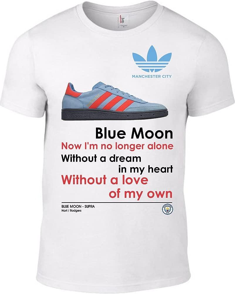 sconto fino al 60% pensieri su scarpe di separazione Manchester City FC Football Club MCFC Blue Moon Words Trainers T ...