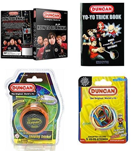 Duncan Intermediate YoYo Kit (4 Items) - Orange Hornet Yo-Yo, Multi-Color Yo-Yo String 5 Pack, Yo-Yo Trick Book, and How To Be A Yo-Yo Ninja DVD [並行輸入品] B07C8J86WJ