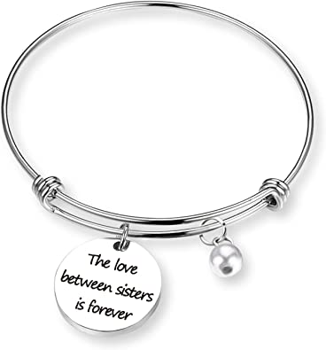 Silvertone Small Matron of Honor Heart Family Heart Best Expandable Bangle Bracelet