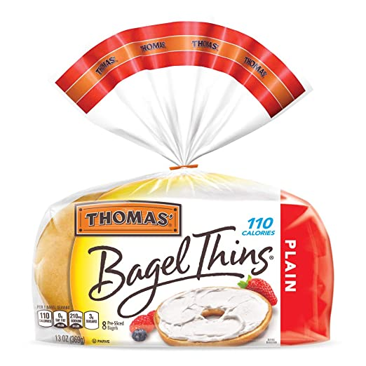 Thomas Plain Bagel Thins Bagels 8 Count Amazon Grocery