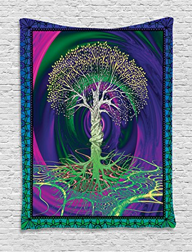 Nature Tapestry Decor by  Psychedelic Tree of Life