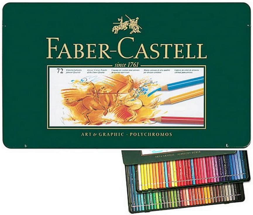 Faber Castell Polychromos Color Colour Pencils Metal Tin Set of 72 by Faber Castell Polychromos