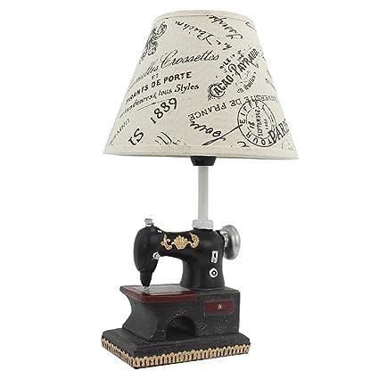 &La lámpara de mesa Retro Maquinas De Coser Lámpara De Mesa Lámpara De Cama Dormitorio Creativo
