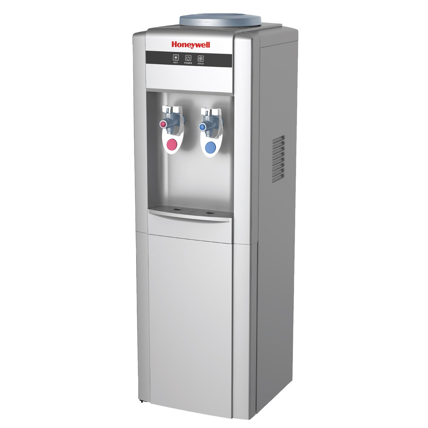 Honeywell HWB1052S2 38-Inch Cabinet Freestanding Hot and Cold Water Dispenser with Stainless Steel Tank to help improve water taste, Back Handle for EASIER HANDLING, Silver