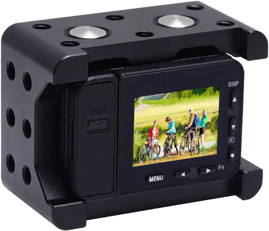 Color : Black Black Durable JINGZ Housing Shell CNC Aluminum Alloy Protective Cage with 37mm UV Lens /& Cold-Shoe Base Mount /& Screw /& Tripod Adapter for Sony RX0 II