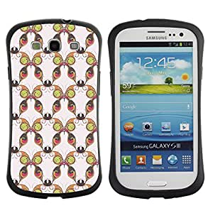 DesignCase Premium TPU / ABS Hybrid Back Case Cover Samsung Galaxy S3 III i9300 ( colorful butterfly )