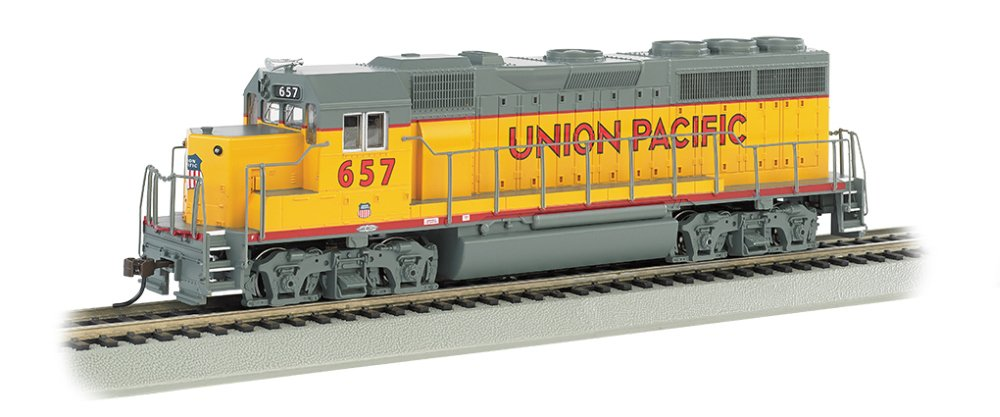 Bachmann Emd GP-40 Locomotive-Union Pacific #657, Multi Color, HO Scale 63528