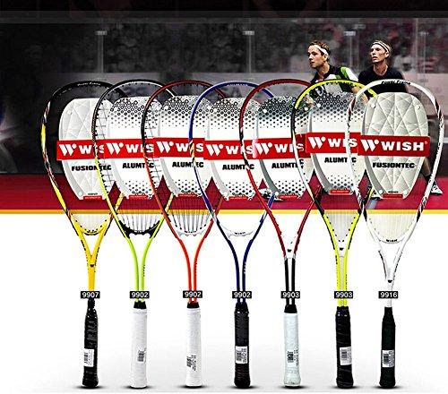 Élasticité élevée Durabilité Squash Racket meilleurs Squash Rackets l'un, Orange