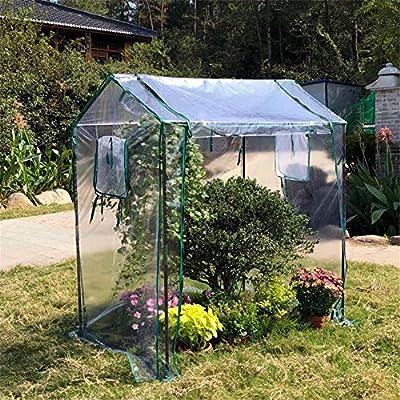 Invernadero De Jardín De Tomate Cubierta De Tienda De Plantas Con Techo Inclinado Invernadero De Cultivo Utilizado Para El Cultivo De Tomate De Flores Y Plantas (Solo Cubierta De PVC), 126x86x150cm: Amazon.es: