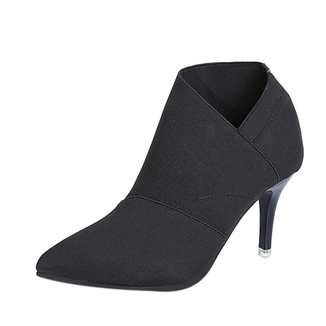 Stiefel Damen Kolylong® Frauen Elegant Stiefeletten mit