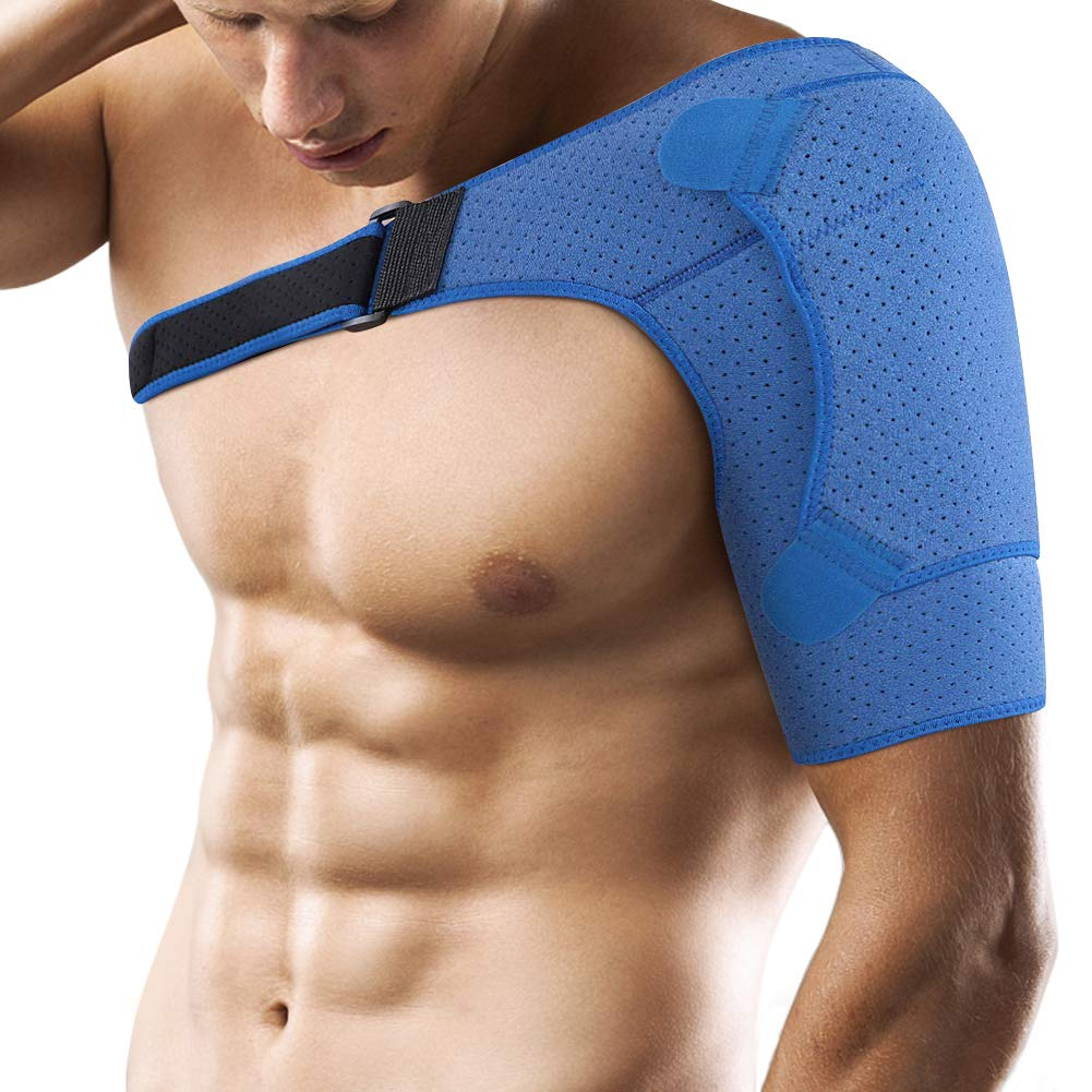 Shoulder Support Brace for Men and Women, Adjustable Neoprene Dislocated Shoulder Strap for Rotator Cuff, AC Joint Muscle Tear Recovery, Labrum Tear and Tendonitis by Yosoo Health Gear