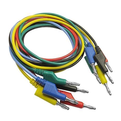 Cable Proyector Conector Monitor Cable 5 piezas 1 M 4 mm Plátano a ...