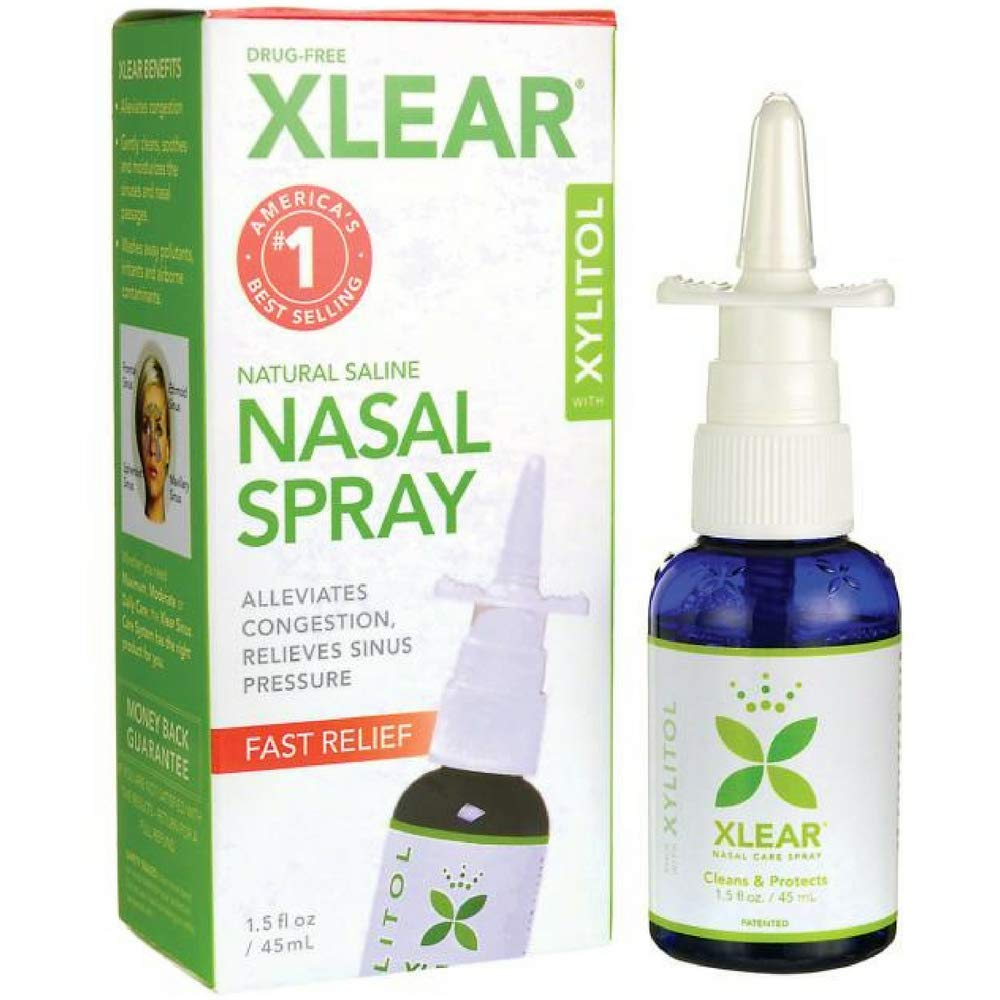XLEAR Xylitol Sinus Care Spray, 1.5 oz (Pack of 8) by Xlear