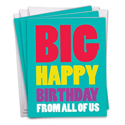Amazon J3900BDG3 Jumbo 3 Pack Of Birthday Card Big Happy