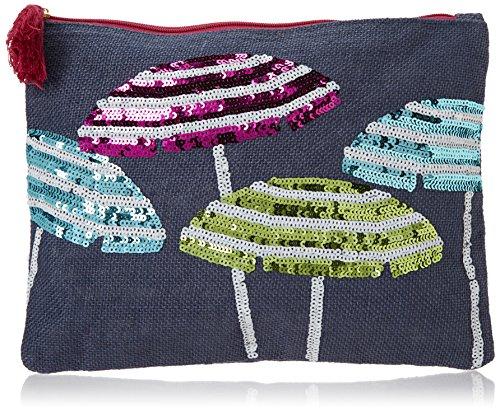 Mud Pie 8613346N Sequin Dazzle Carry All Cosmetic Bag, Umbrella