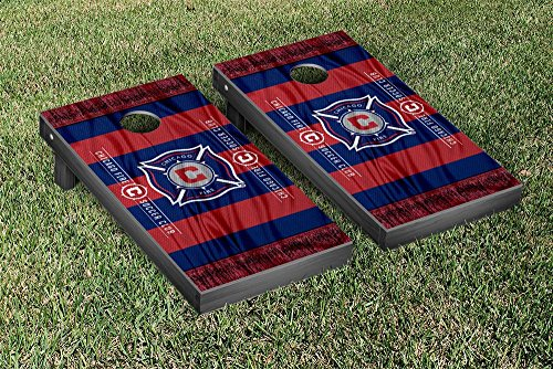 Chicago Fire MLS Soccer Regulation Cornhole Game Set Scarf Version by Victory Tailgate