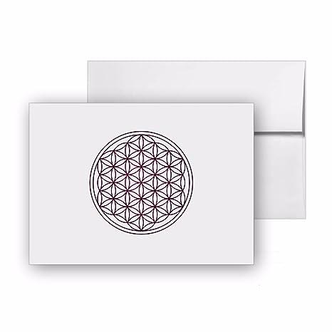 Amazon.com : Flower Of Life Flower Yoga Life, Blank Card ...