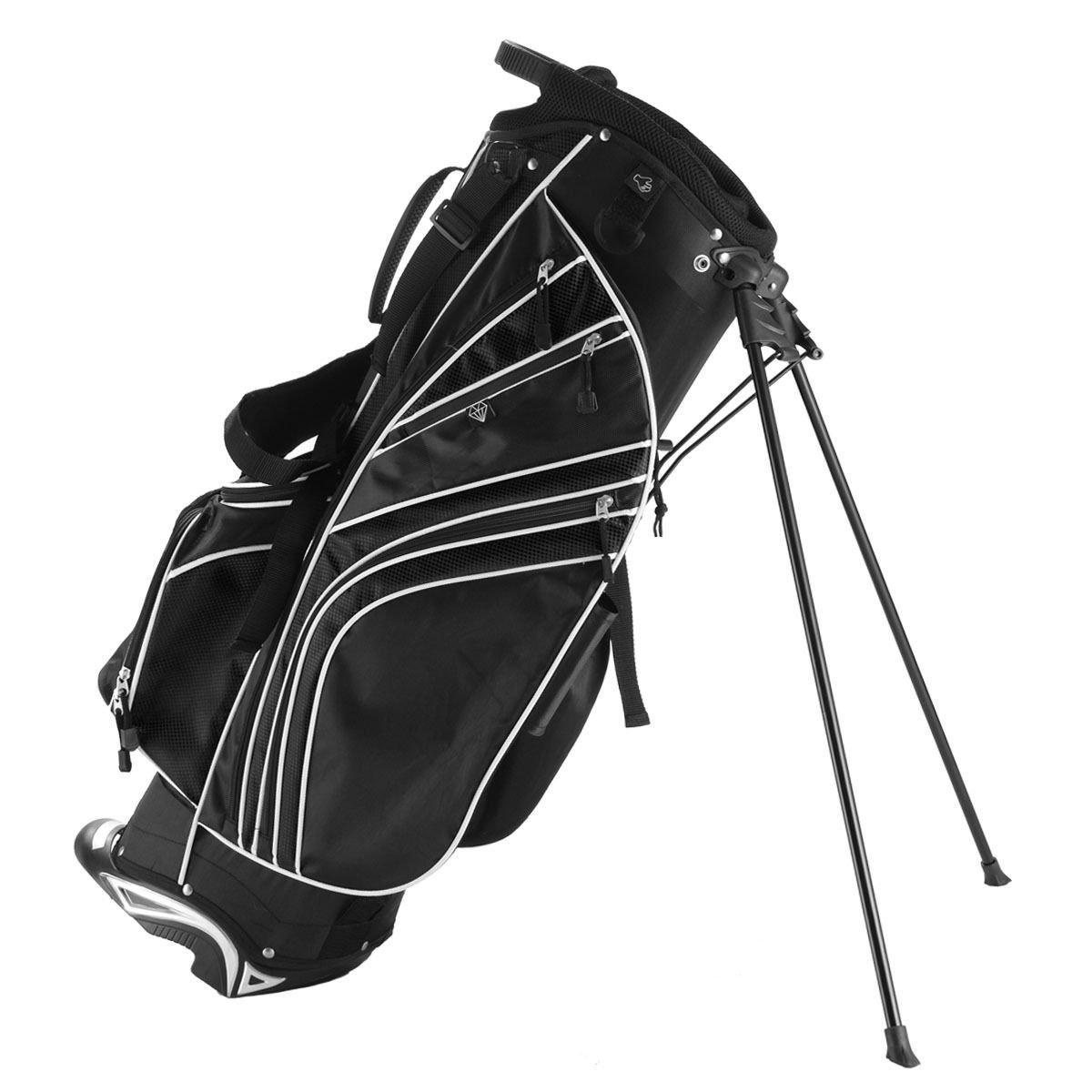 6 Way Divider Golf Stand Bag Carry OrganizerBlack