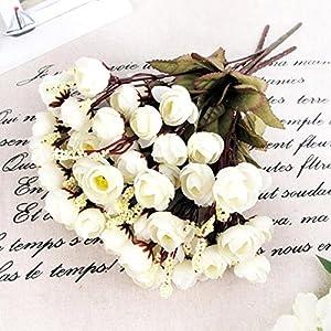 Unmengii Silk Flowers Floral Camellia Magnolia Peony Bouquet Spring Room Decor Wedding 19