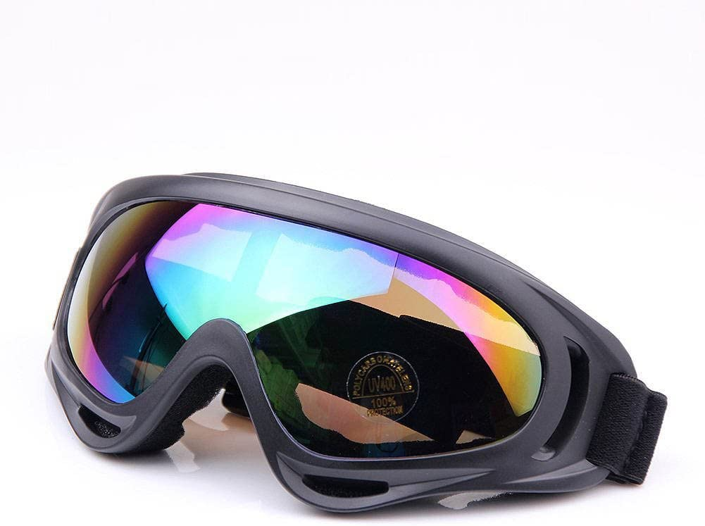 Viriber Snow Googles Windproof UV400 Motorcycle Snowmobile Ski Bicycle Riding Goggles Eyewear Sports Protective Safety Glasses