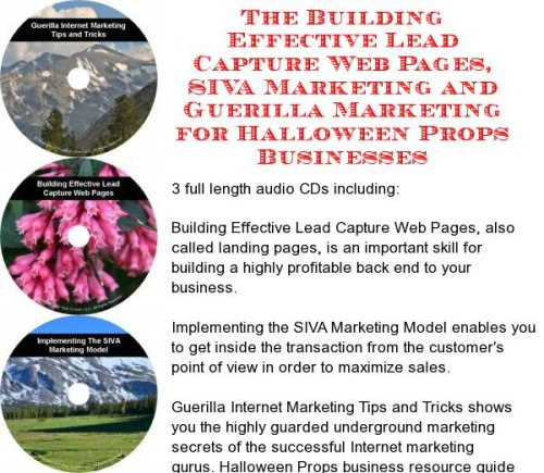 The Guerilla Marketing, Building Effective Lead Capture Web Pages, SIVA Marketing for Halloween Props Businesses]()