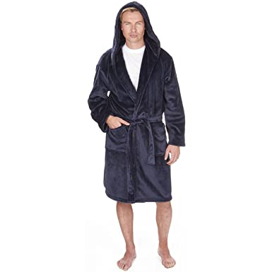 Mens Supersoft Housecoat Fleece Bath Robe Dressing Gown Gents Warm ...