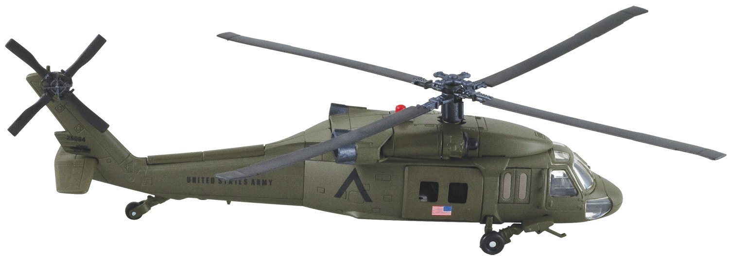New Ray Sky Pilot UH-60 Black Hawk Diecast Helicopter Replica 1:60 Scale by New Ray