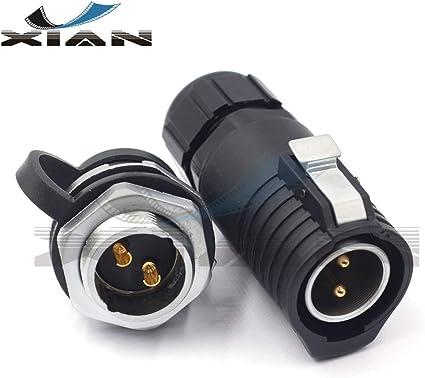 LP20 2Pins Waterproof Connector 20A plug-female Industrial Bulkhead Connectors
