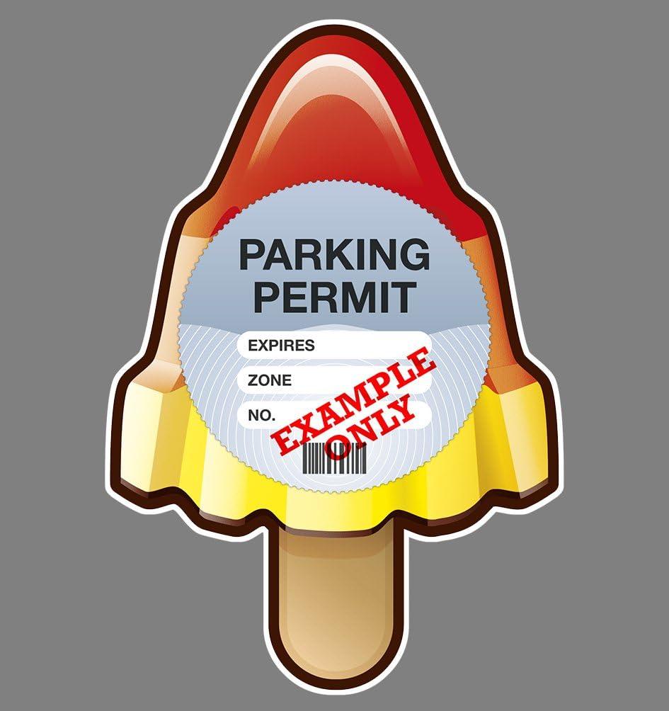 Parking Permit Holder Skin ROCKET LOLLY Free UK Post