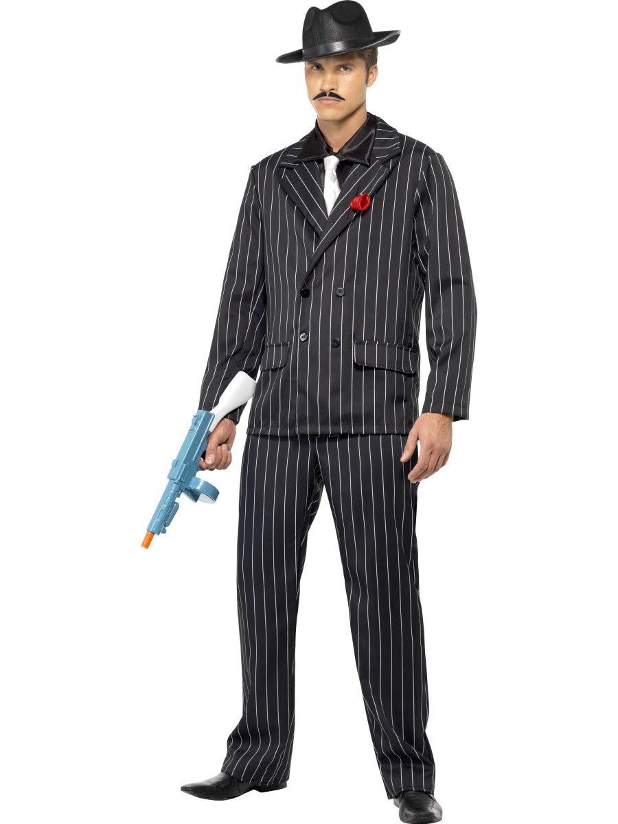 Gangster Disfraz Negro Blanco: Amazon.es: Juguetes y juegos