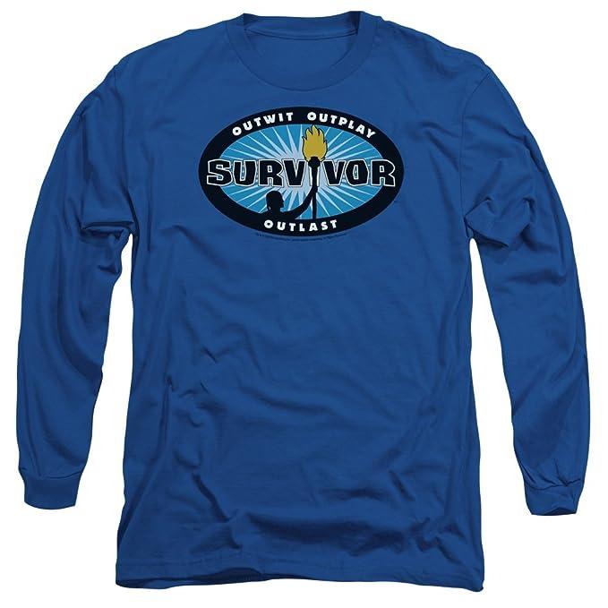 WickedTees Camiseta manga larga camiseta ráfaga camiseta para hombre Grande azul real