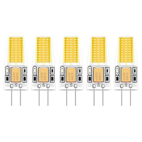 5X G4 Lámpara LED 3W LED Lamps COB Bombilla LED Blanco Cálido 3000K LED Lamps 300LM