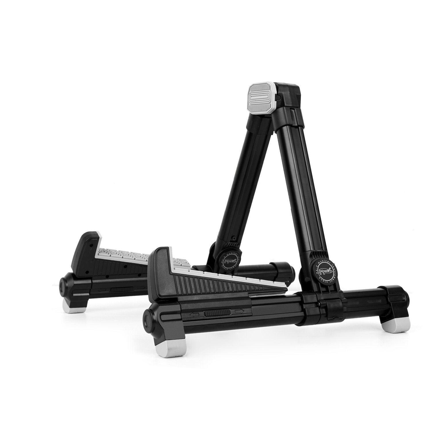 Universal Design Portable Adjustable Folding A-Frame Professional Travel Stands for Acoustic/Electric/Classical Guitar,Bass,Banjo (Black)