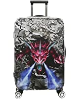 Luggage Cover Protective SINOKAL 3D Suitcase Protector Covers with Zipper for Travel 20 24 26 28 29 30 31 inch (Only Cover)
