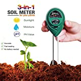 Magstonee 3 in 1 Soil Tester Moisture Meter Light and PH acidity TesterGardening Tools for Plant Lawn Farm IndoorOutdoors to Use Easy Read Indicator (No Battery needed)